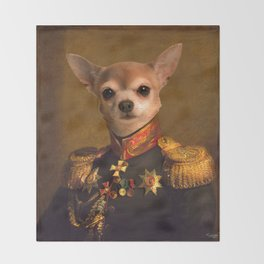 Chiwawa General portrait | Cute Kawaii Throw Blanket