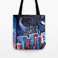 starry night Tote Bags featuring Todays' 'Starry Starry Night' by Cassandra Evelyn