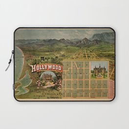 Map Of Hollywood 1887 Laptop Sleeve