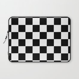 Checker Cross Squares Black & White Laptop Sleeve