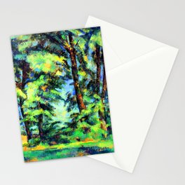 Cezanne Tall Trees in the Jas de Bouffan Stationery Cards