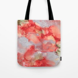 Alcohol Ink 'Big Red' Tote Bag