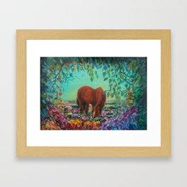 Horse in the Field Framed Art Print