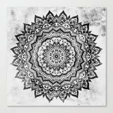 BLACK JEWEL MANDALA Canvas Print