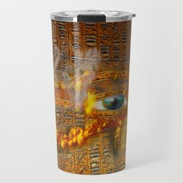 The Prophecy of Fire - Ancient Egypt Eye of Horus Travel Mug