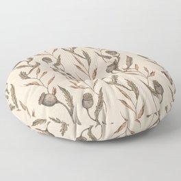 Poppy Pod Pattern Floor Pillow