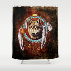 Indian Native Stark Clan Wolf Dream Catcher iPhone 4 4s 5 5s 5c, ipod, ipad, pillow case and tshirt Shower Curtain