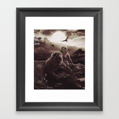 VIII. Strength Tarot Card Illustration (Warmth) Framed Art Print