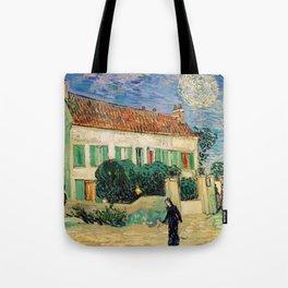 Vincent Van Gogh : White House at Night Tote Bag