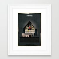 kubrick Framed Art Prints featuring 05_ARCHIDIRECTOR_Stanley Kubrick by federico babina