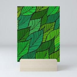 Lush / Leaf Pattern Mini Art Print