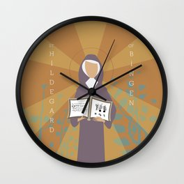 St. Hildegard of Bingen Wall Clock