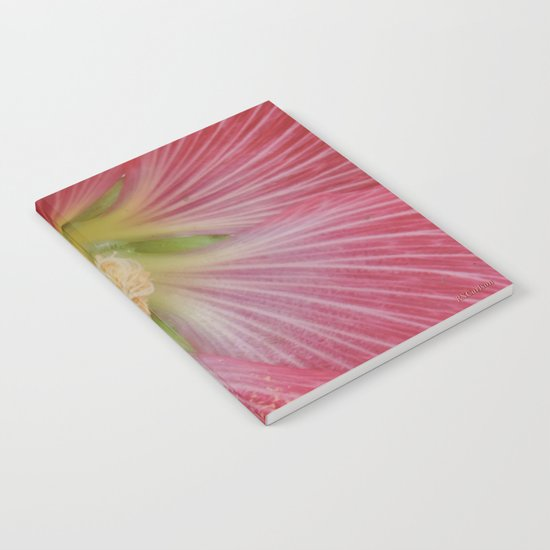 Heart of a Hollyhock Blossom Notebook