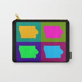 Colorful Iowa Pop Art Map Carry-All Pouch