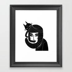 CAT BEARD Framed Art Print