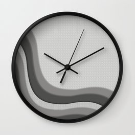 Pantone Pewter Gray Soothing Waves with Canvas Texture Wall Clock