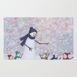 Mrs. Snowman and the kiddos Rug