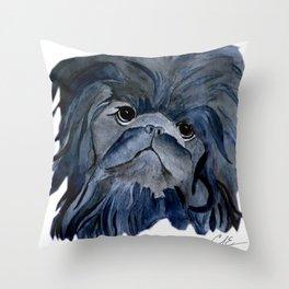 Pekingese Dog love... Throw Pillow