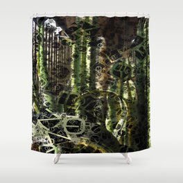 Cactus Garden Letters 4 Shower Curtain