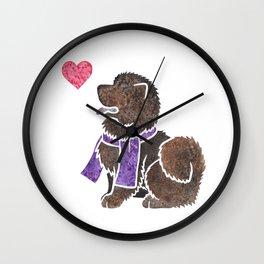 Watercolour Chow Chow Wall Clock