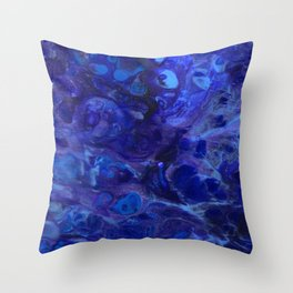 Blue Abyss Abtract Throw Pillow