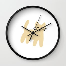 Cute mouse on white Wall Clock