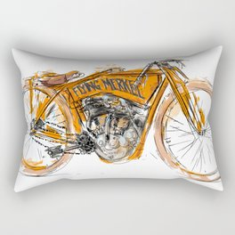 Flying Merkel Rectangular Pillow