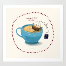 Relax! It's teatime! Art Print