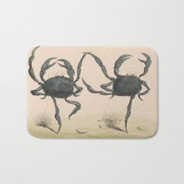 Vintage Illustration of Dancing Crabs (1849) Bath Mat