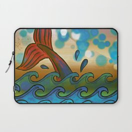 Beach Whale Tail Abstract Laptop Sleeve