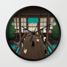A Japanese summer night Wall Clock