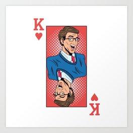King Pop Art Art Print