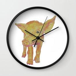 Inquisitive Piggy Wall Clock