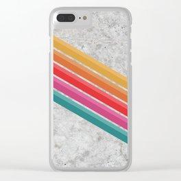 Retro - Downhill Concrete #881 Clear iPhone Case