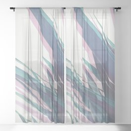 Holographic Leaves II Sheer Curtain