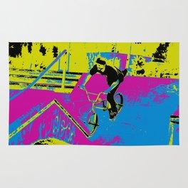 """Hitting the Ramp"" - BMX Biker Rug"