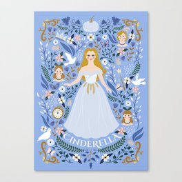 Princess Fairy tale Illustration Canvas Print
