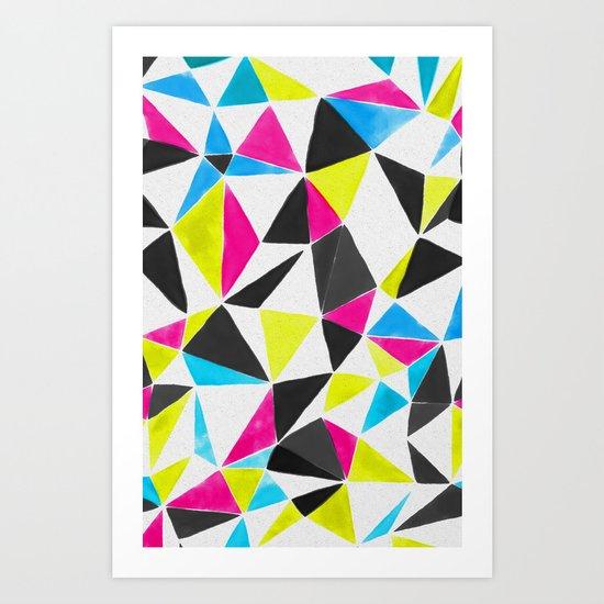 watercolor geometry CMYK Art Print