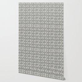 Block Print Diamond Wallpaper