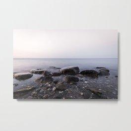 Stones in Sea Metal Print