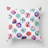 sushi Throw Pillows featuring Sushi by Óscar Andrés Berrío