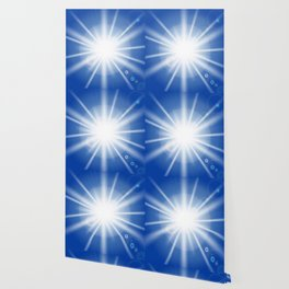 Sun rays and light effects on blue sky. Wallpaper