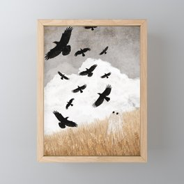Walter and The Crows Framed Mini Art Print