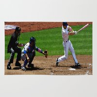 baseball Area & Throw Rugs featuring Baseball by Mylittleradical