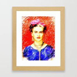 Looking for Frida Kahlo... Framed Art Print