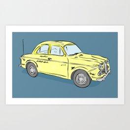 2 caballos viejo carro / old car custom spain ols model Art Print