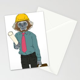 MONKEY WORKER CLOSEUP (2 of 2) Stationery Cards