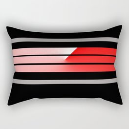 TEAM COLORS 5 ... red, gray Rectangular Pillow