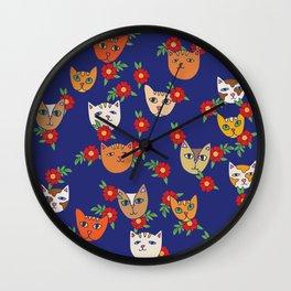 Retro Kitty Cats Wall Clock
