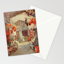 Cane, Ella du (1874-1943) - The Banks of the Nile 1913, The Shoe Bazaar, Cairo Stationery Cards